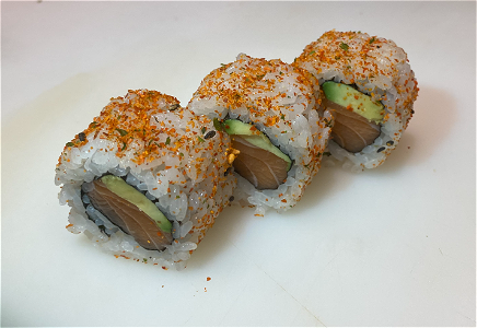 Foto Spicy salmon uramaki